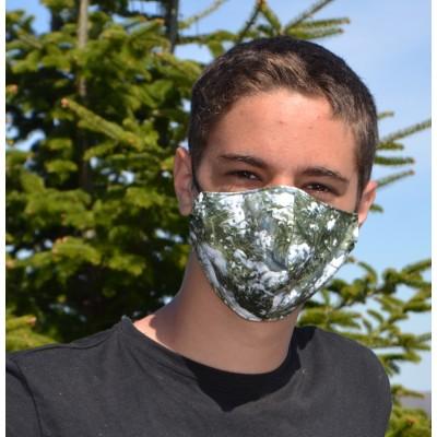 Masque artisanal camouflage